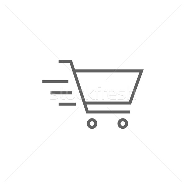 Shopping cart line icon. Stock photo © RAStudio