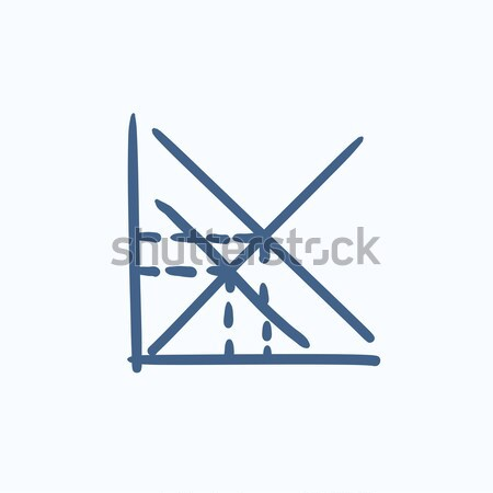 Mathematical graph line icon. Stock photo © RAStudio