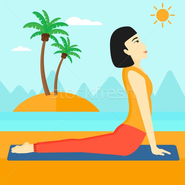 Woman practicing yoga. Stock photo © RAStudio