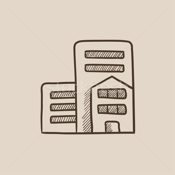 Residential buildings sketch icon. Stock photo © RAStudio