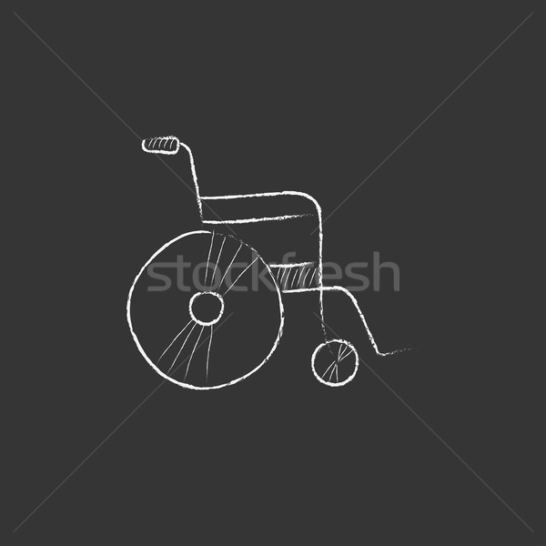 Wheelchair. Drawn in chalk icon. Stock photo © RAStudio