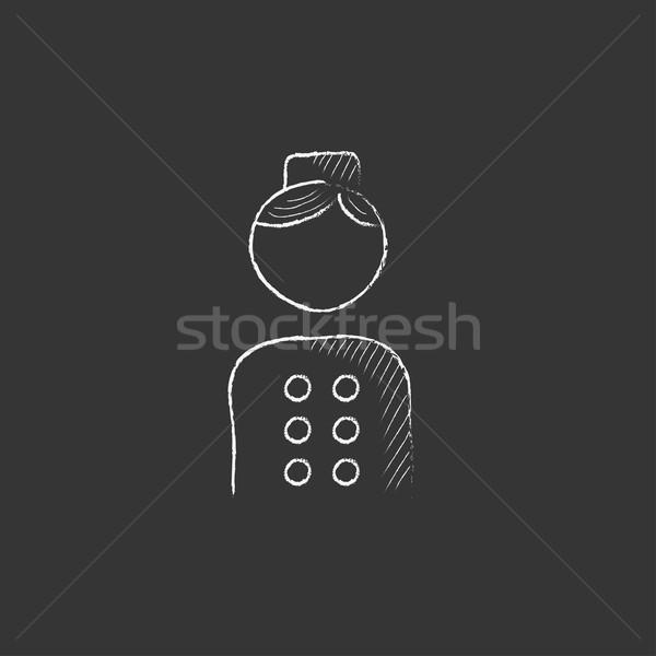 Bellboy. Drawn in chalk icon. Stock photo © RAStudio