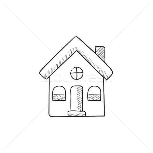 Detached house sketch icon. Stock photo © RAStudio