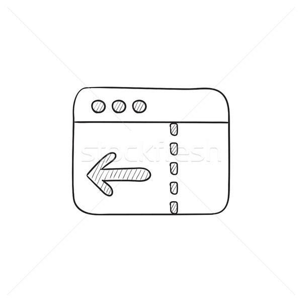 ブラウザ ウィンドウ 矢印 スケッチ アイコン ベクトル ストックフォト © RAStudio
