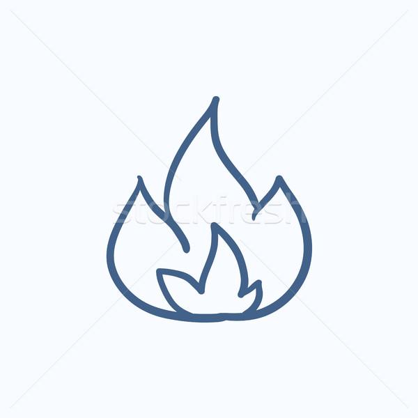 Fire  sketch icon. Stock photo © RAStudio