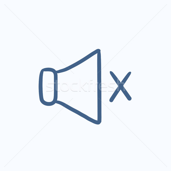 Mute speaker sketch icon. Stock photo © RAStudio