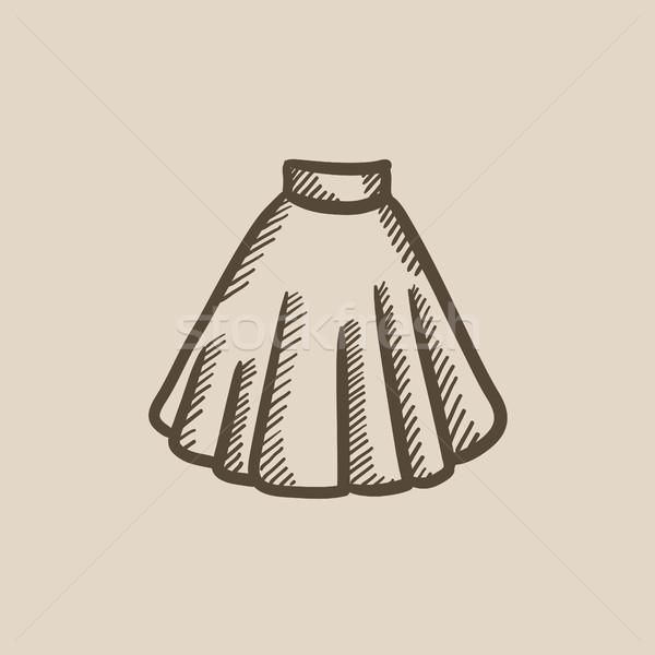 Rok schets icon vector geïsoleerd Stockfoto © RAStudio