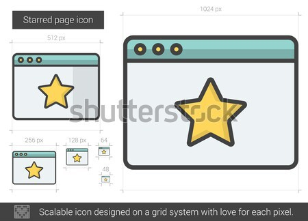 Starred page line icon. Stock photo © RAStudio
