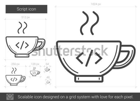 Komut hat ikon vektör yalıtılmış beyaz Stok fotoğraf © RAStudio