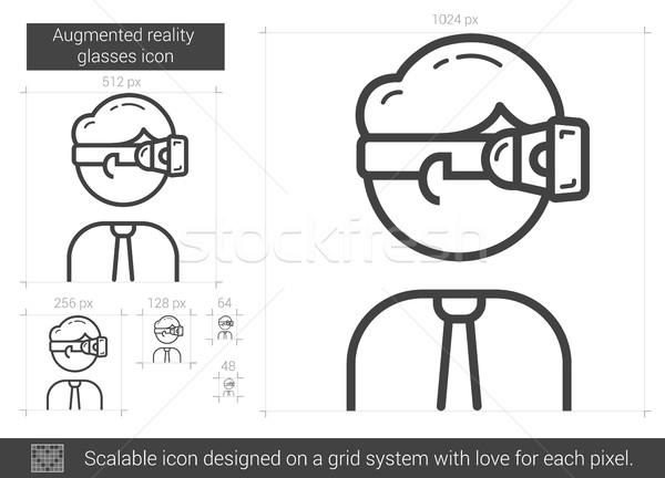 Augmented reality glasses line icon. Stock photo © RAStudio
