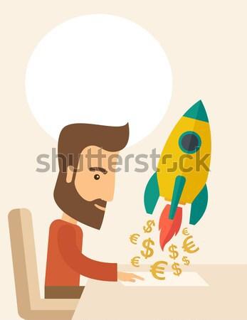On-line startup Stock photo © RAStudio