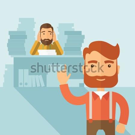 Tough office job. Stock photo © RAStudio