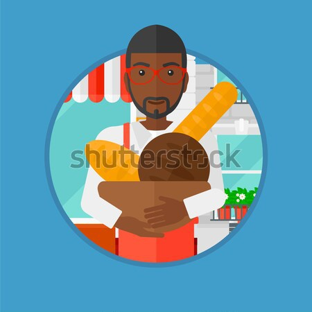 Father carrying his daughter in sling. Stock photo © RAStudio