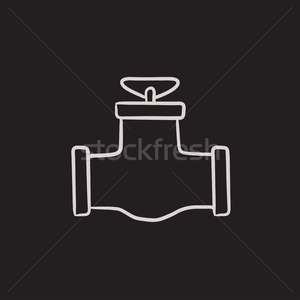 Gas pipe valve sketch icon. Stock photo © RAStudio