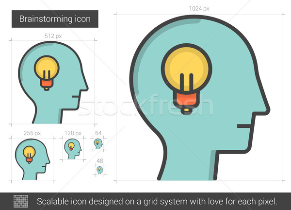 Brainstorming line icon. Stock photo © RAStudio