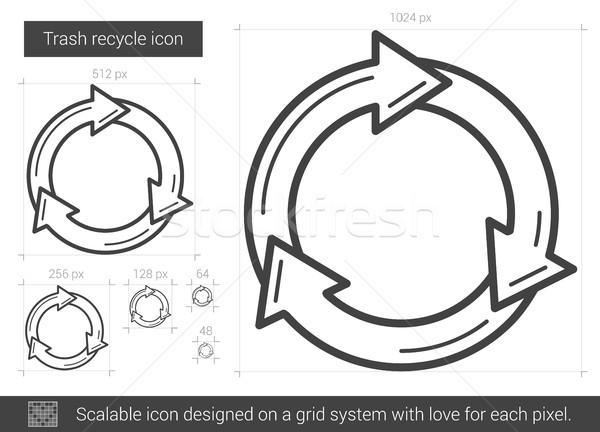 мусор Recycle линия икона вектора изолированный Сток-фото © RAStudio
