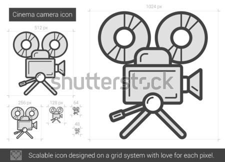 Cinema camera line icon. Stock photo © RAStudio