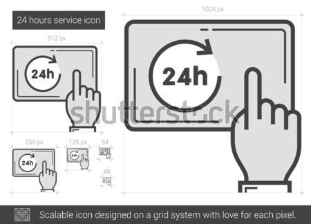 Vinte quatro serviço linha ícone 24 Foto stock © RAStudio