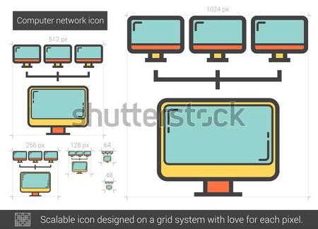 Computer network line icon. Stock photo © RAStudio