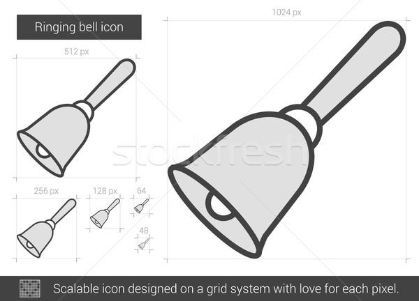 Ringing bell line icon. Stock photo © RAStudio
