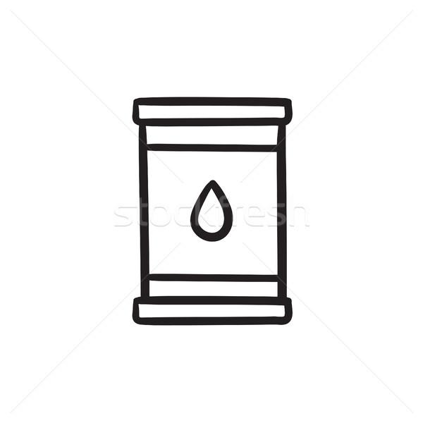 Oil barrel sketch icon. Stock photo © RAStudio