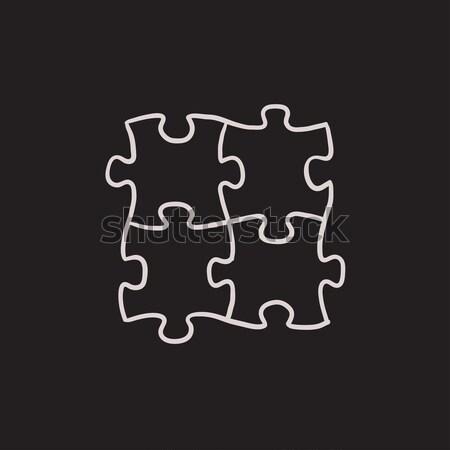 Puzzle sketch icon. Stock photo © RAStudio