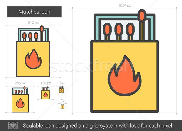 Matches line icon. Stock photo © RAStudio