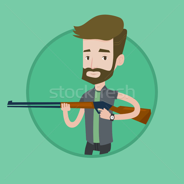 Hunter ready to hunt with hunting rifle. Stock photo © RAStudio