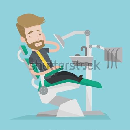 страшно пациент стоматологических Председатель испуганный азиатских Сток-фото © RAStudio