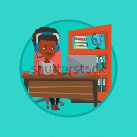 épuisé triste employé de bureau travail bureau séance Photo stock © RAStudio
