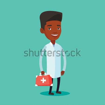 Doktor ilk yardım kutu tıbbi cüppe Stok fotoğraf © RAStudio