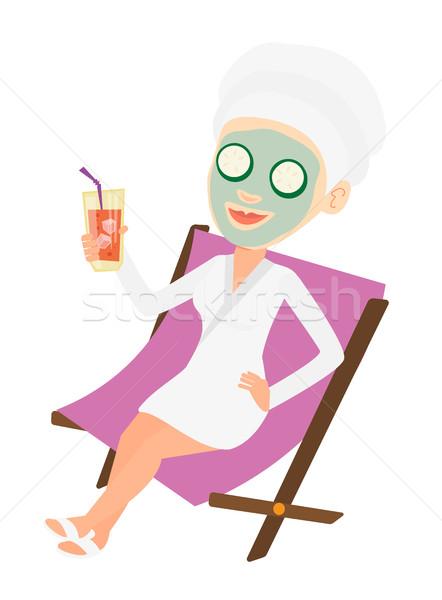 Woman getting beauty treatments in the salon. Stock photo © RAStudio