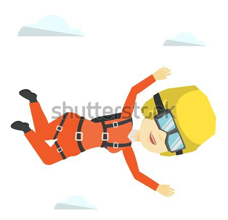 African parachutist jumping with parachute. Stock photo © RAStudio