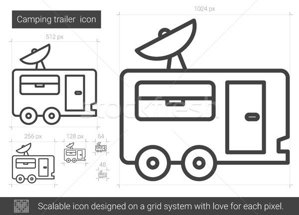 Camping trailer line icon. Stock photo © RAStudio