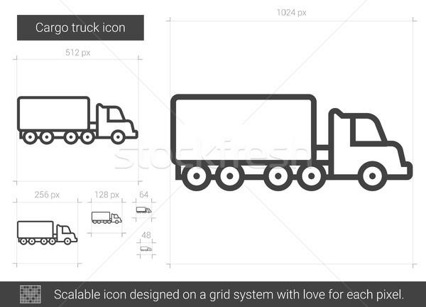 Cargo truck line icon. Stock photo © RAStudio