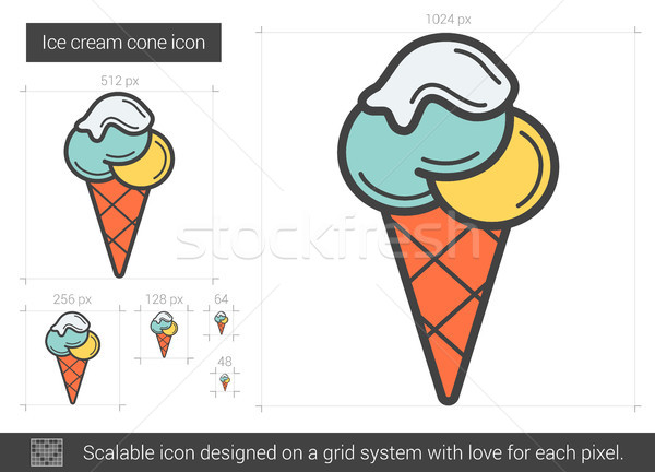 Ice cream cone line icon. Stock photo © RAStudio