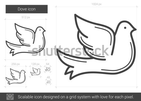 Dove line icon. Stock photo © RAStudio