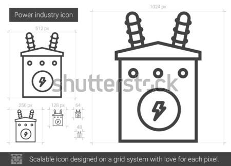 Power industry line icon. Stock photo © RAStudio