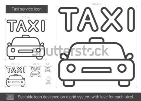 Taksi hizmet hat ikon vektör yalıtılmış Stok fotoğraf © RAStudio