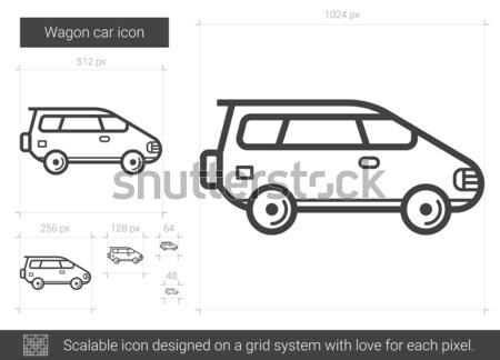 Wagon car line icon. Stock photo © RAStudio