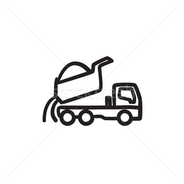 Dump truck sketch icon. Stock photo © RAStudio