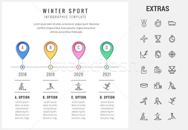Sports infographic icons
