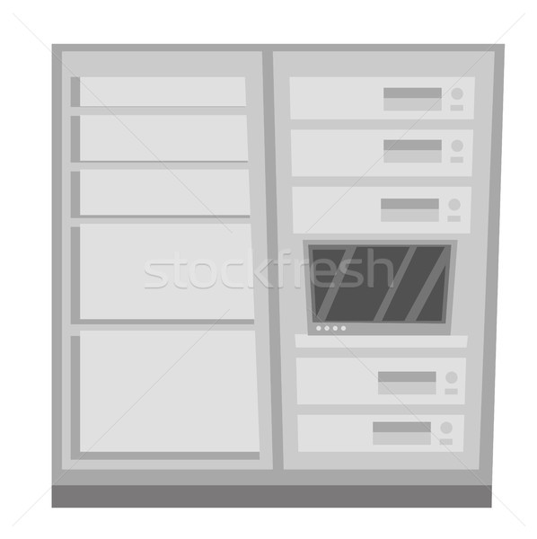 Data center vector cartoon illustration. Stock photo © RAStudio