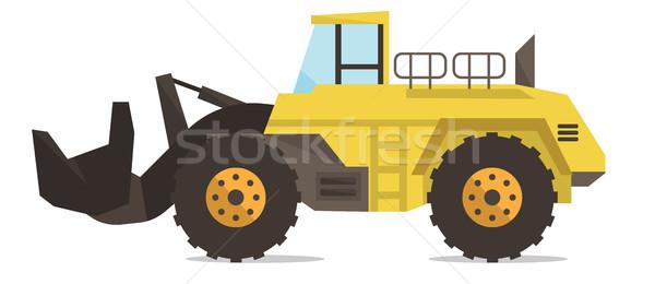 Large yellow dredge vector illustration. Stock photo © RAStudio