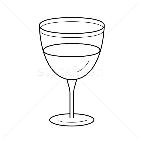 Wine glass vector line icon. Stock photo © RAStudio
