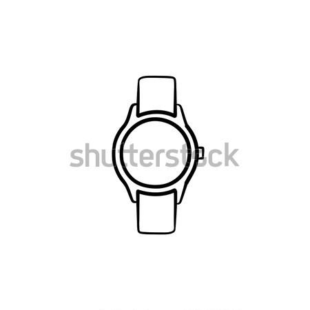 Karóra kézzel rajzolt rajz ikon skicc firka Stock fotó © RAStudio