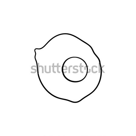 Eggs hand drawn sketch icon. Stock photo © RAStudio