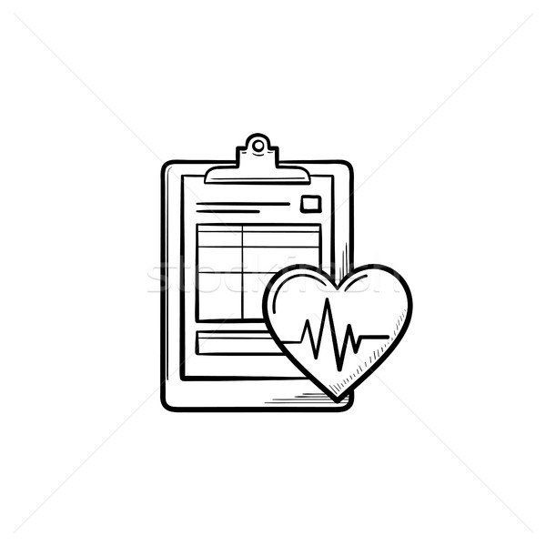 Medical record hand drawn outline doodle icon. Stock photo © RAStudio