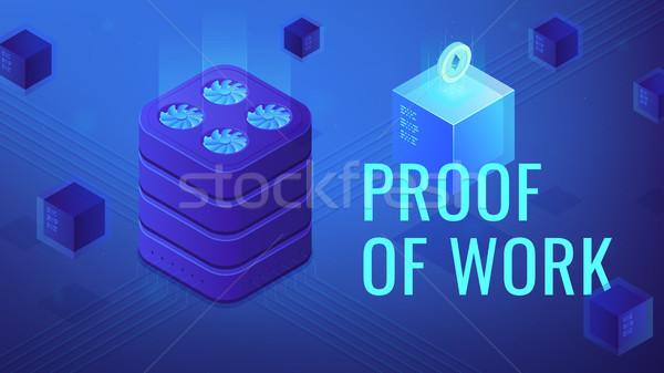 Isométrica prova trabalhar título segurança protocolo Foto stock © RAStudio