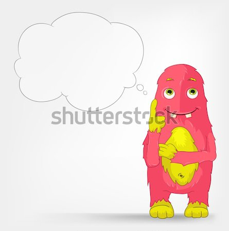 Grappig monster communicatie geïsoleerd grijs Stockfoto © RAStudio